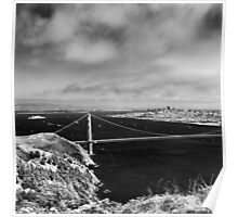 The View From Hawk Hill - 75th Anniversary of the Golden Gate Bridge Poster