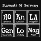 Element of harmony periodic table - White Outline by Pegasi Designs