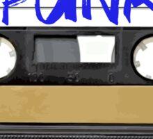 PUNK Music band logo in Cassette Tape Sticker