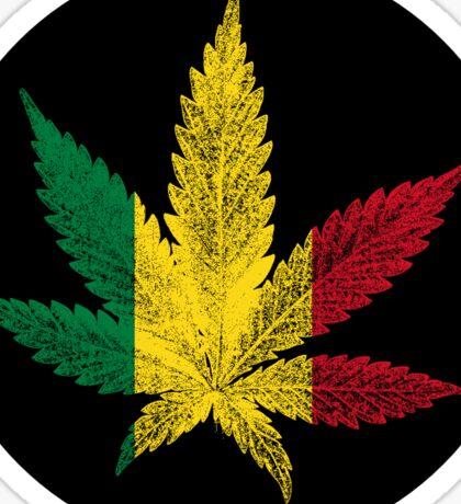 Rastafari Cannabis Leaf Sticker Sticker