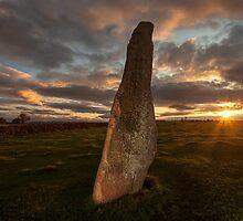 Sunset at Long Meg by Brian Kerr