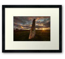 Sunset at Long Meg Framed Print