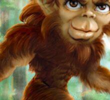 Little Bigfoot Sasquatch Caricature Sticker