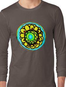 Colorful Flower Design Long Sleeve T-Shirt