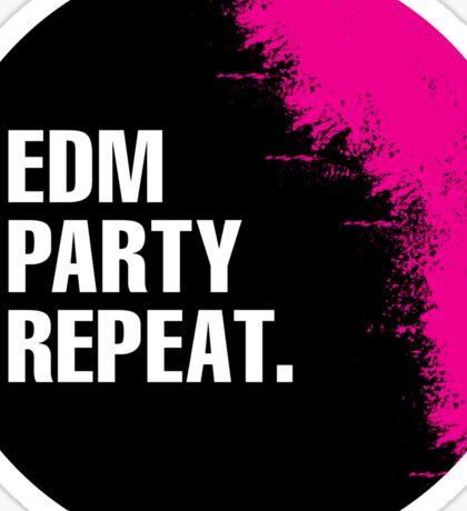 EDM Party Repeat Sticker