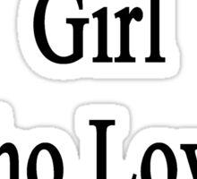 I'm That Cute Girl Who Loves Zebras Sticker
