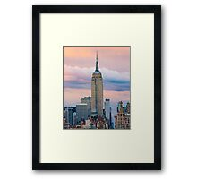 Empire State in Cotton Candy Framed Print