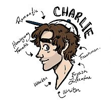 Charlie Flood character map sticker by CBSparrow