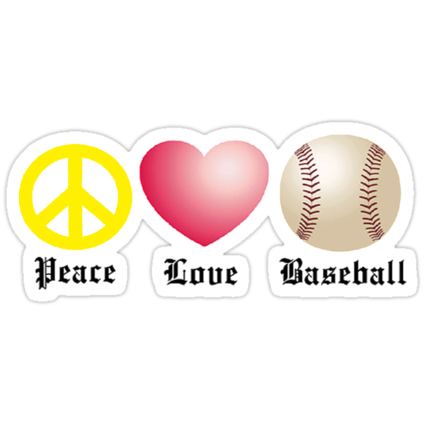 Peace, Love, Baseball by shakeoutfitters