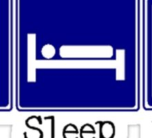 Eat, Sleep, Baseball Sticker