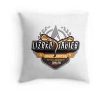 Trek.fm Team Lizard Babies (Light) Throw Pillow