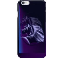 Horse Silhouette Shadowed Oval iPhone Case/Skin