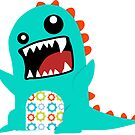 Monster Grunge Blueby Sticker by David & Kristine Masterson