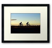 Bikers at sunset Framed Print