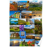 The colours of Ireland Poster