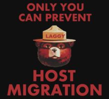 Laggy the Bear Hates Host Migration by TwoToned210