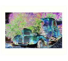 psychedelic history  Art Print