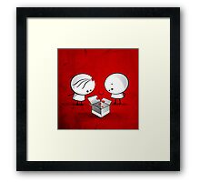 The valentine gift Framed Print