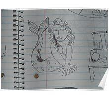 Portrait of Darya (sketch) Poster