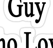 I'm That Cute Guy Who Loves Baseball Sticker