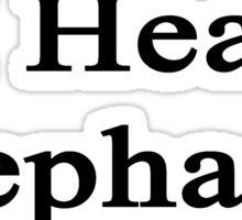 I Heal Elephants Sticker