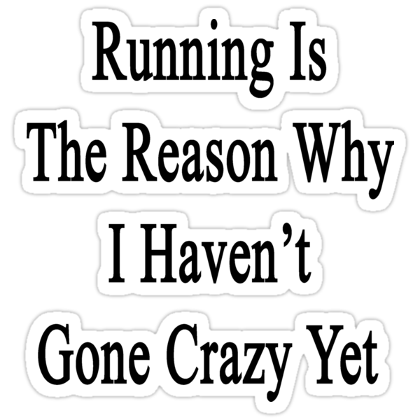 Running Is The Reason Why I Haven't Gone Crazy Yet by supernova23