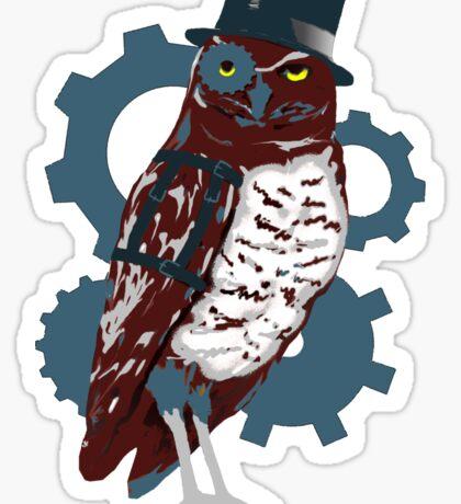 Steampunk Owl Sticker