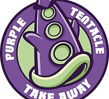 Purple Tentacle Take Away Sticker by cronobreaker