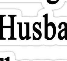 Hiking Is My Husband's Therapy Sticker
