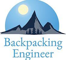 Backpacking Engineer Logo Sticker by msbpackengineer