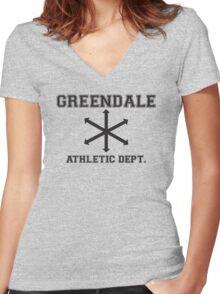 Community Athletic Dept. Women's Fitted V-Neck T-Shirt