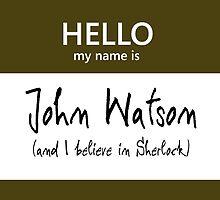 John Watson Name Tag by Kristina Moy