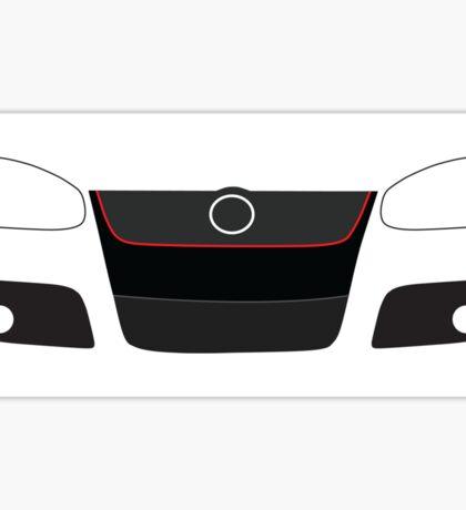 MK5 simple headlight and grill design Sticker Sticker