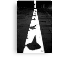Traffic cones in shadow Canvas Print