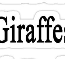 I Will Defend Giraffes No Matter What Sticker