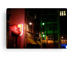 Neon Alley Canvas Print