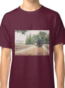 Rainy On Bow Bridge Classic T-Shirt