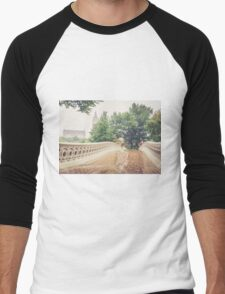 Rainy On Bow Bridge Men's Baseball ¾ T-Shirt