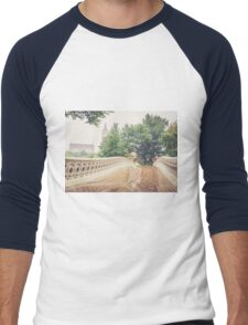 Rainy On Bow Bridge Men's Baseball ¾ T-Shirt