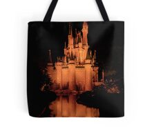 Cinderella's Castle - Yellow w/reflection Tote Bag