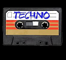Techno Music Cassette Tape by RestlessSoul
