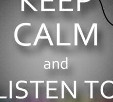 Keep Calm and Listen to Kpop Sticker