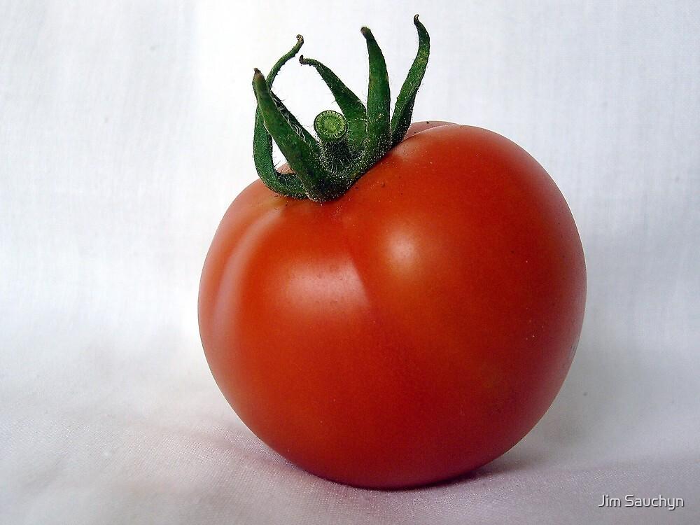 Vine ripened tomato by Jim Sauchyn