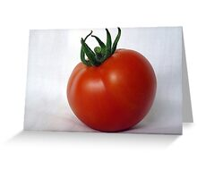 Vine ripened tomato Greeting Card