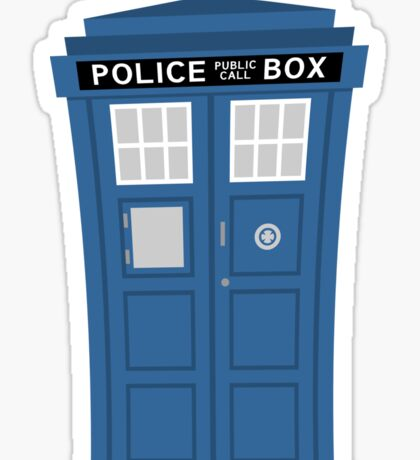 """TARDIS Friend"" Sticker"