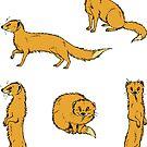 Yellow Mongoose sticker set 2 by HenriekeG