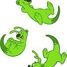 Spaceferret stickersheet 2 - Green by HenriekeG