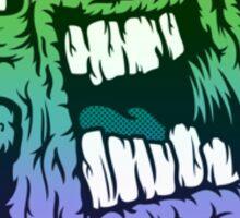 Rainbow Monster Illustration. Sticker