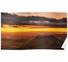 Tabletop Mountain Sunrise Poster