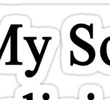 Running Is My Son's Religion  Sticker